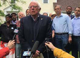 at his burlington home sanders and supporters plot next steps