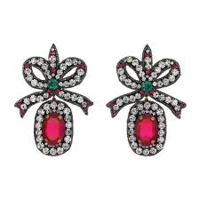 bow earrings embroidered bow earrings gucci fashion jewelry for women