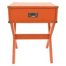 Orange Side Table Orange Accent Tables Living Room Furniture The Home Depot