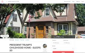 traveling to new york stay in trump u0027s childhood home now listed