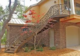 tree branch railing construction process railing stair