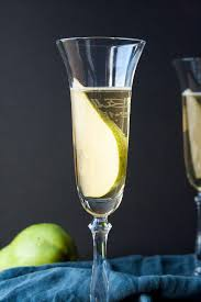 french 75 recipe spiced pear bellini golden autumn day hungry by nature