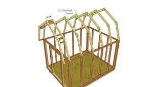 Frame A House by Exterior Design How To Build A Gambrel Roof Shed For Home Design