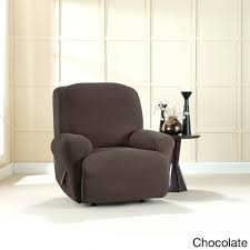 Accent Chair Slipcover Blue Wing Recliner Slipcover Cozy Furniture Brixton Chocolate