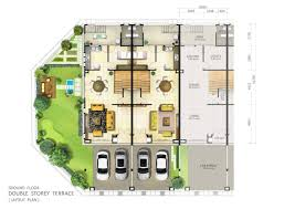 floor plan single storey bungalow terrace ground story house plans