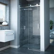 Frameless Slider Shower Doors Frameless Sliding Shower Door At Plumbing Uk