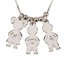 Necklace With Kids Names Silver Kids Name Charms Boy U0026 Mother Necklace Engraved