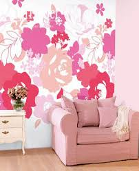 Wall Decorating Pink And Purple Poppy - Poppy wallpaper home interior