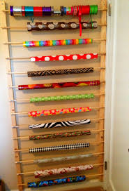 how to store wrapping paper home made is easy diy the door wrapping paper ribbon storage