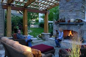 patio ideas industrial modern idea for patio fireplace built in