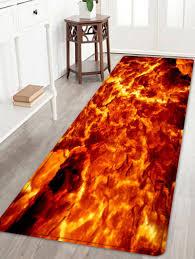 Orange Floor L 2018 Lava Pattern Floor Area Rug W Inch L Inch In Bath