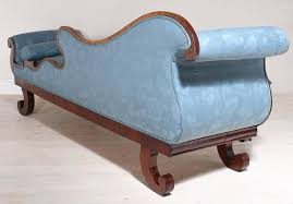 Fainting Bench 19th Century Empire Recamier Or Fainting Couch In Mahogany With
