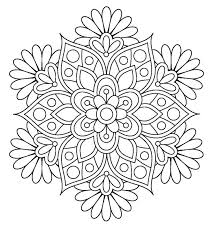 Interesting Ideas Adult Coloring Pages Flowers Best 25 Flower On Mandala Flowers Coloring Pages