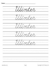 10 free cursive handwriting worksheets seasons and holidays