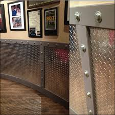 would be great for a man cave or garage diamond plate industrial