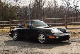 porsche 911 convertible black 1991 porsche 911 carrera 101 734 miles black convertible for sale