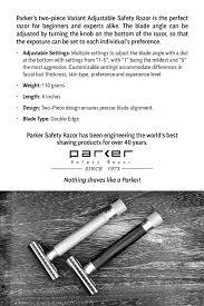 wireless shaving razor black friday amazon amazon com parker variant adjustable double edge safety razor and