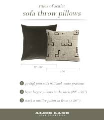 Throws And Pillows For Sofas by Rules Of Scale Sofa Throw Pillows Alice Lane