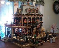 victorian playmobil haunted mansion halloween ooak house
