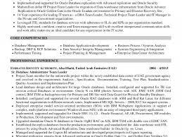 Enterprise Data Architect Resume Resume Oracle Certified Professional Sql Database Administrator