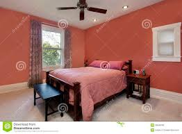 master bedroom with mauve colored walls stock image image 12174891