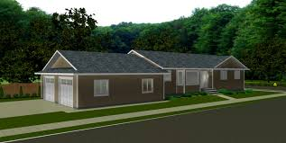 bungalow house plans with basement bedroom cool attached garage house plans and basement split