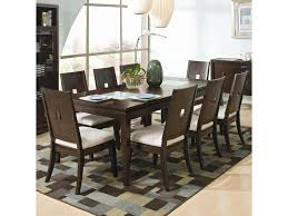 najarian spiga 9 piece cracked glass formal table u0026 upholstered