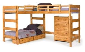 Loft Bunk Beds Heartland L Shaped Loft Bunk Bed Bunk Bed For 3