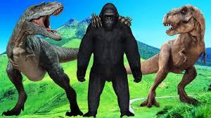 dinosaur king kong fight 3d short film kids godzilla