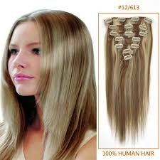 24 inch extensions inch clip in human remy hair extensions 12 613 12 pieces