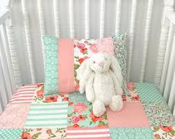 Shabby Chic Crib Bumper by Damask Baby Bedding Etsy