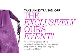 sale alert coach factory take 30 one day sale today