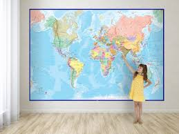 Large World Map Poster Large World Map Poster My Blog And Besttabletfor Me At Wall