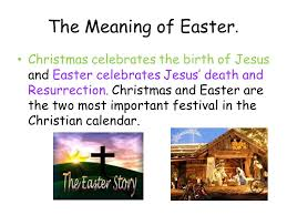 the meaning of easter celebrates the birth of jesus and