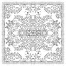 tappeto disegno colorare unico libro quadrato per adulti etnica disegno tappeto