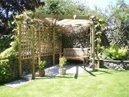 Garden Corner Ideas Mesmerizing Corner Pergola Together With Garden Corner Seating