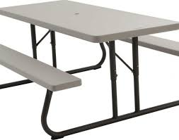Lifetime 6 Folding Table Bench Lifetime 6 Foot Folding Picnic Table Bench In Putty