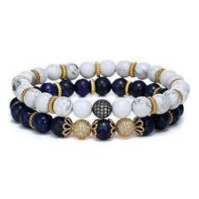 turquoise bead bracelet images White blue turquoise beaded bracelets mr peachy jpg