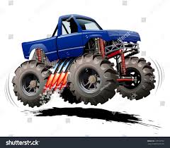 bigfoot monster truck logo cartoon monster truck stock vector 237127792 shutterstock