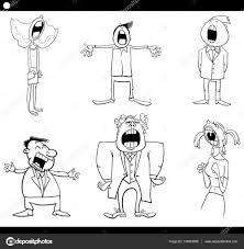 singing people coloring page u2014 stock vector izakowski 138883568
