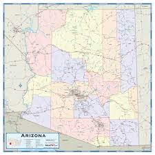 Arizona Political Map by Arizona Counties Wall Map Maps Com