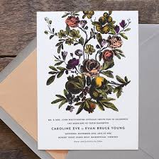 foil sted wedding invitations floral wedding invitation flower wedding invitation vintage