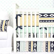 Black And Gold Crib Bedding Gold And Mint Aztec Baby Bedding Caden