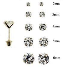 6mm stud earrings 14k gold baby earrings ebay