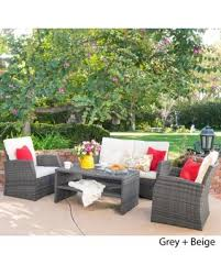 Best Fabric For Outdoor Furniture by Find The Best Deals On Sanger Outdoor 4 Piece Wicker Seating Set