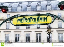 Paris Subway Retro Paris Metro Subway Sign Editorial Stock Photo Image 25259268