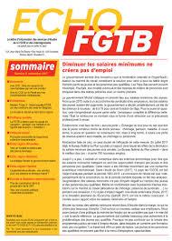 bureau du chomage bruxelles fgtb echo fgtb n 9 novembre 2017 publications