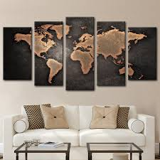 colorful world map masterpiece multi panel canvas wall art sale view copper world map multi panel canvas wall art