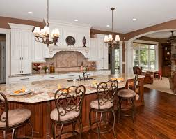 luxury kitchen with dark hardwood floors elegant home design