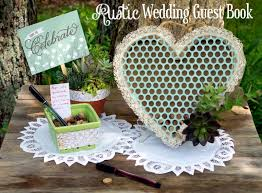 rustic wedding guest book diy rustic wedding guest book do more for less